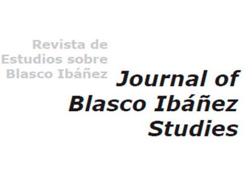 Tercer número de la revista Journal of Blasco Ibañez Studies