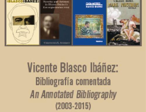 Presentación del libro Vicente Blasco Ibáñez: Bibliografía comentada
