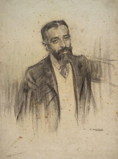Retrato de Luis Morote, realizado por Ramón Casas