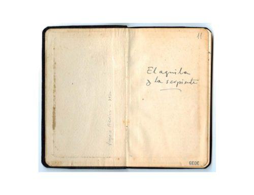 Libreta manuscrita 11. El águila y la serpiente