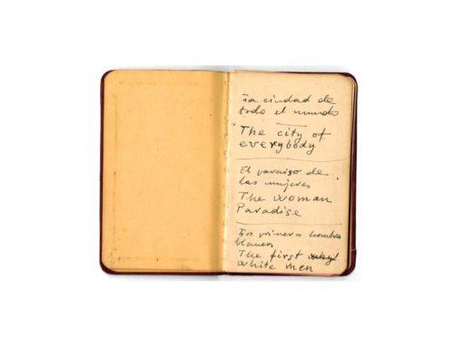 Libreta manuscrita 16. Estados Unidos